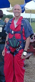 The well-dressed skydiver